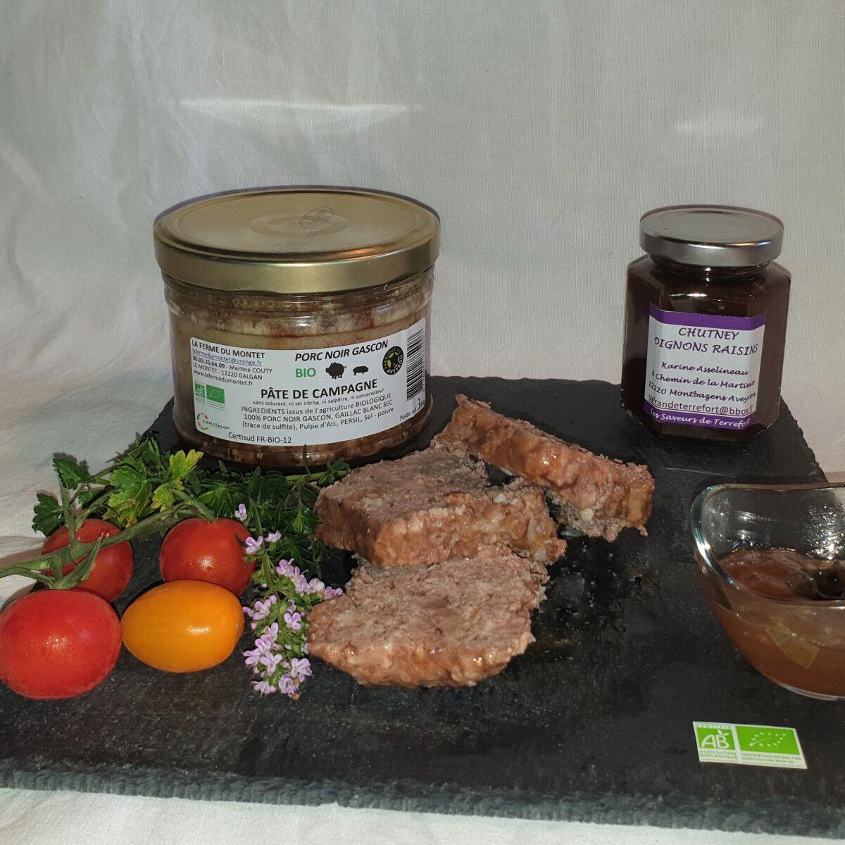 La Ferme du Montet Pâté de campagne de Porc Noir Gascon BIO - 380 g