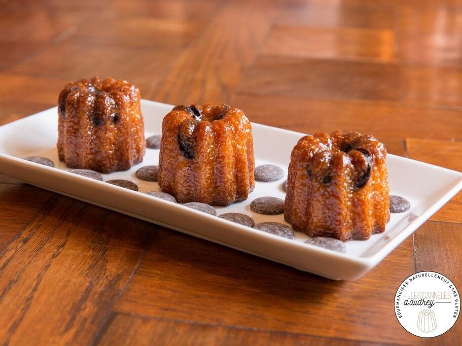 Les Cannelés d'Audrey Cannelés Pépites De Chocolat - 4 Pièces  - Sans gluten