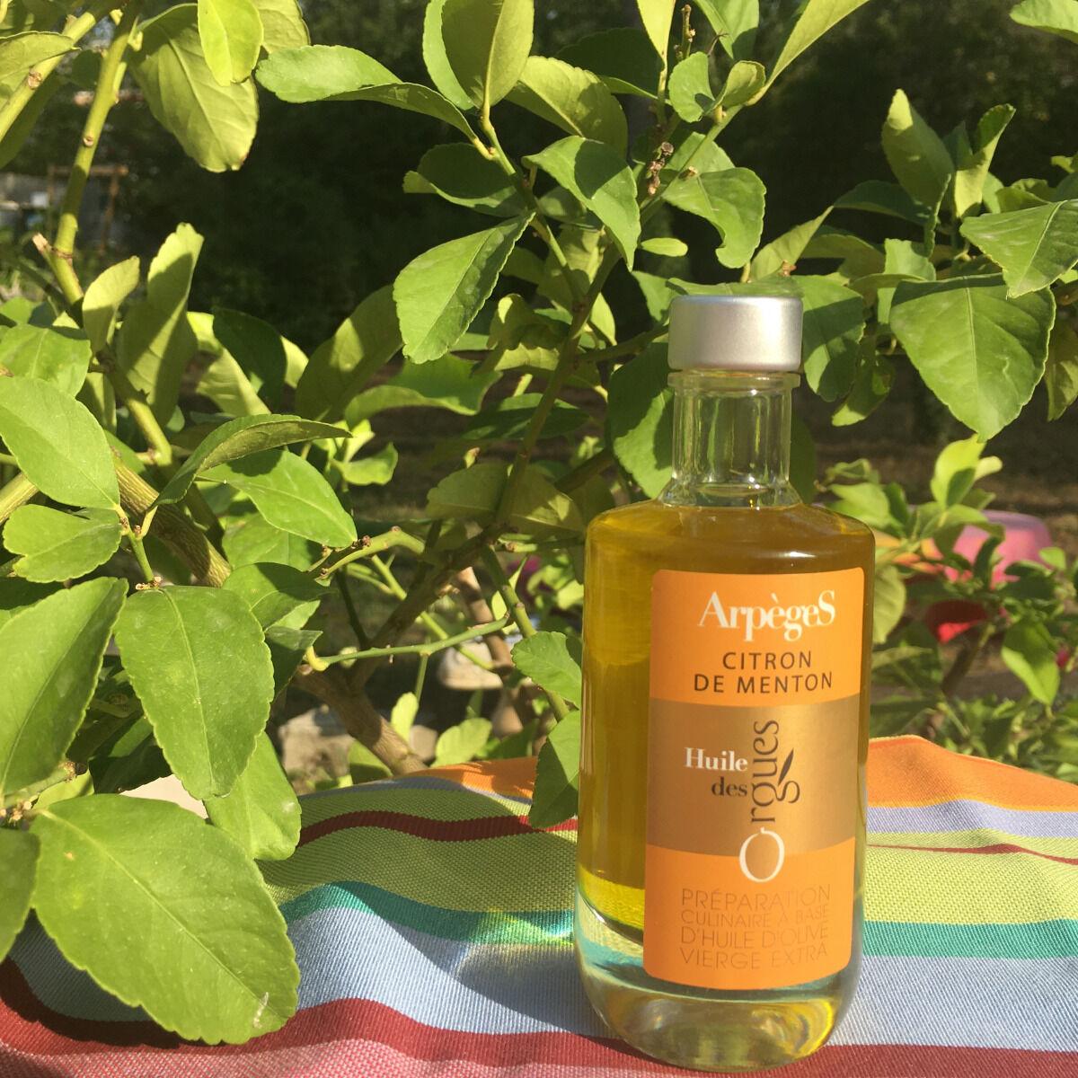 Huile des Orgues Huile d'Olive Parfumée au Citron de Menton - 100 ml