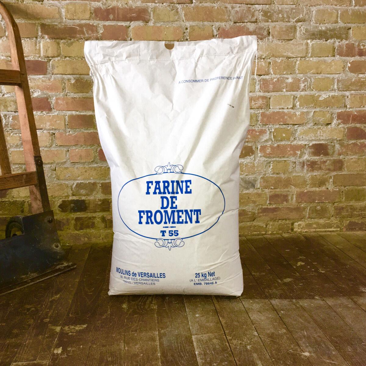 Moulins de Versailles Farine De Froment T55 Corde Blanche - 25kg