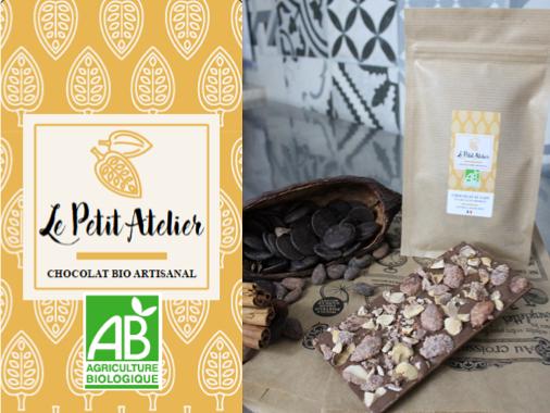 Le Petit Atelier Tablette Chocolat Au Lait Et Amandes Caramélisées