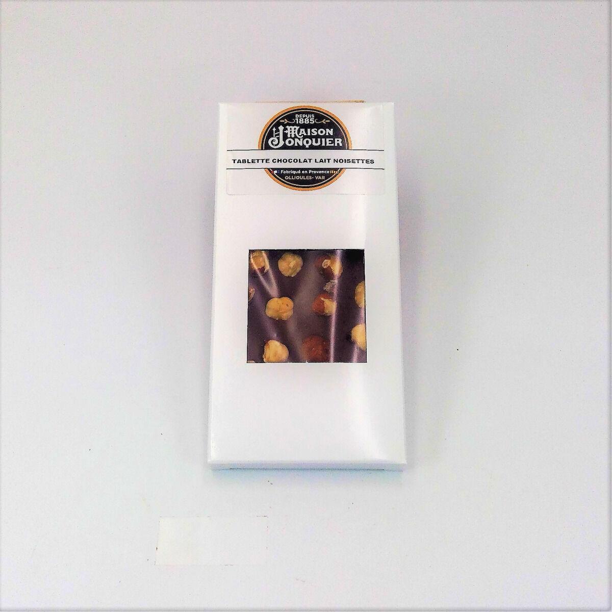 Maison Jonquier Chocolat au Lait et Noisettes – 38% de Cacao – 100g
