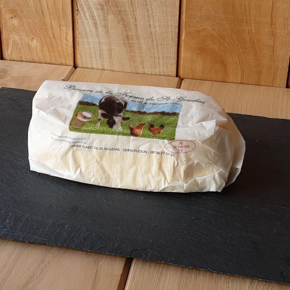 Gourmets de l'Ouest Beurre de baratte fermier au sel de Guérande