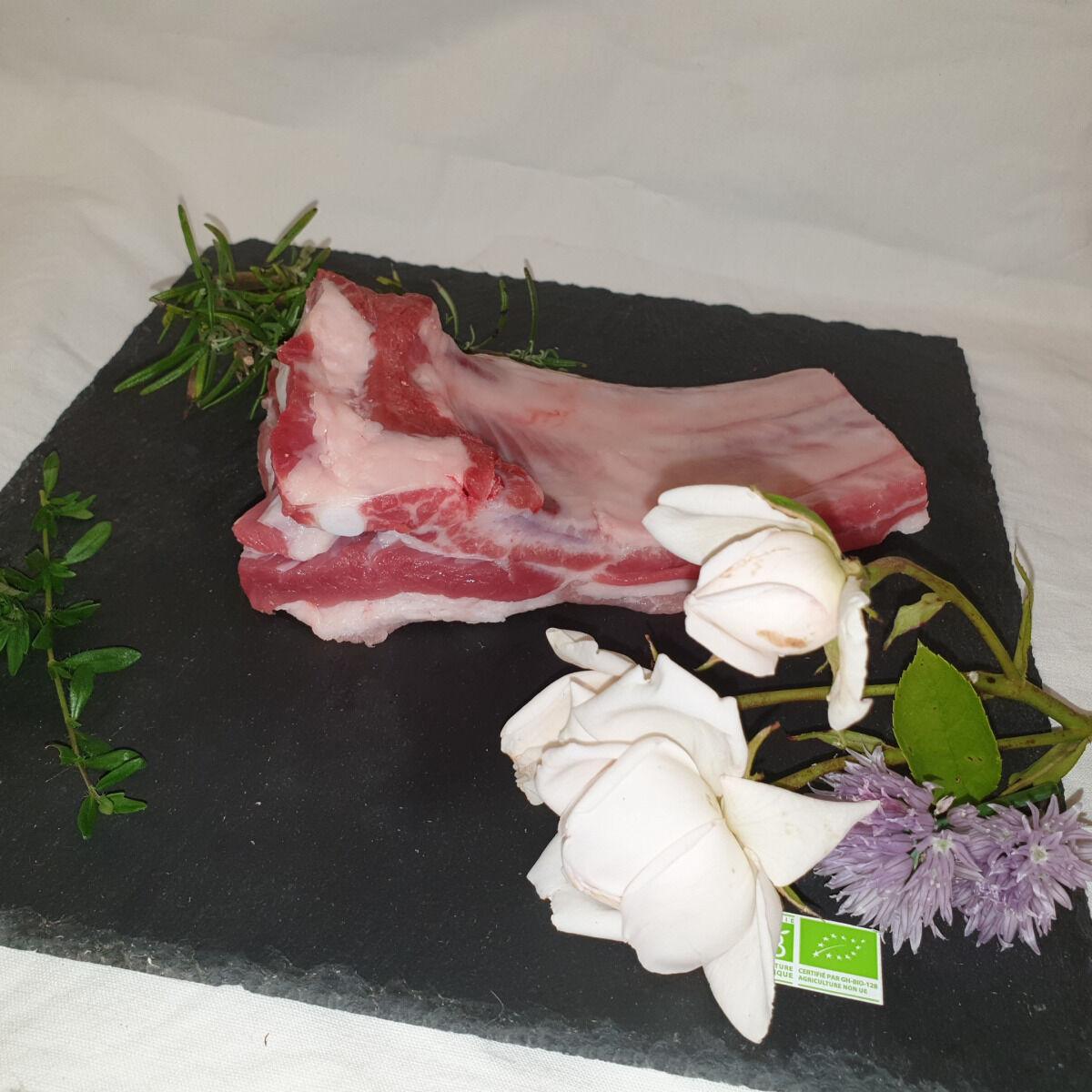 La Ferme du Montet [SURGELE] Travers de Porc Noir Gascon BIO - 400 g