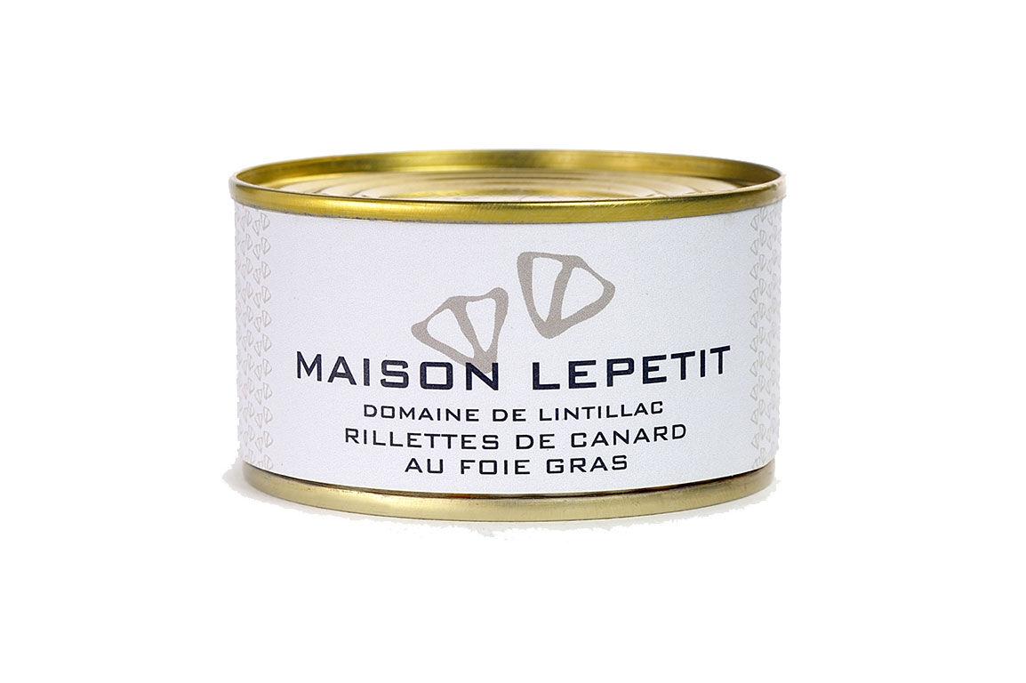 Maison Lepetit Rillettes De Canard Au Foie Gras
