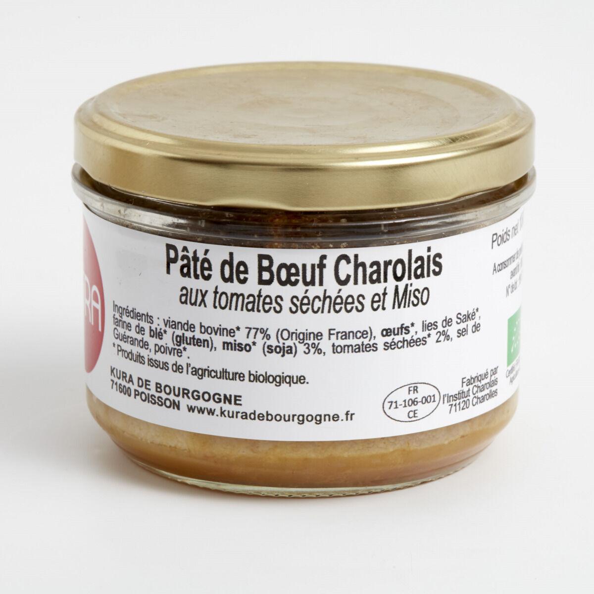 Kura de Bourgogne Pâté de Bœuf Charolais au Miso et Tomates Séchées Bio