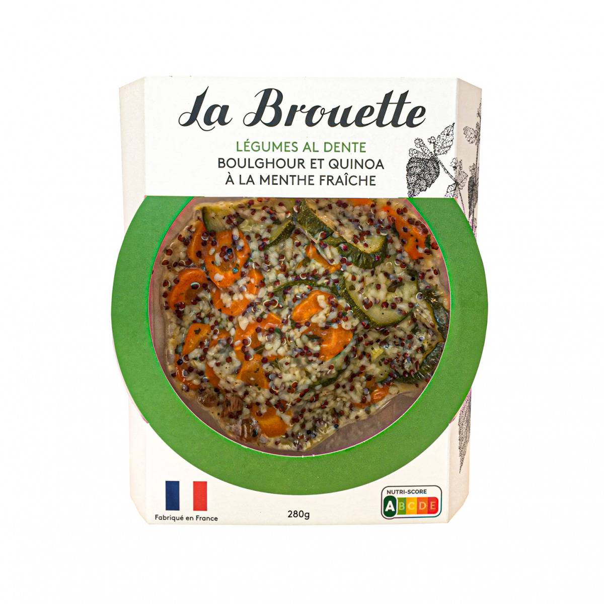 La Brouette Pour 1 Pers. - Légumes Al Dente Boulghour & Quinoa  À La Menthe Fraîche