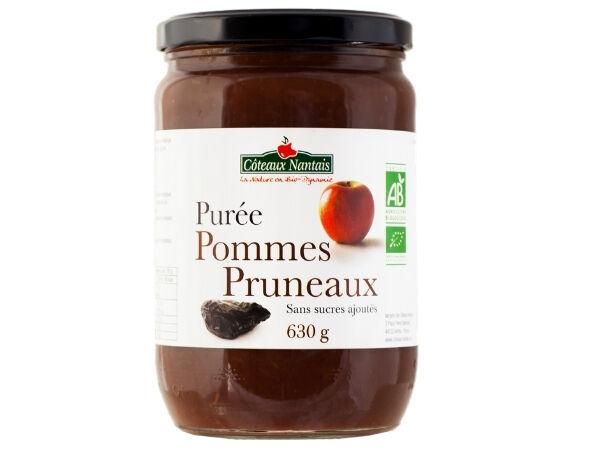 Les Côteaux Nantais Purée Pommes Pruneaux 630g