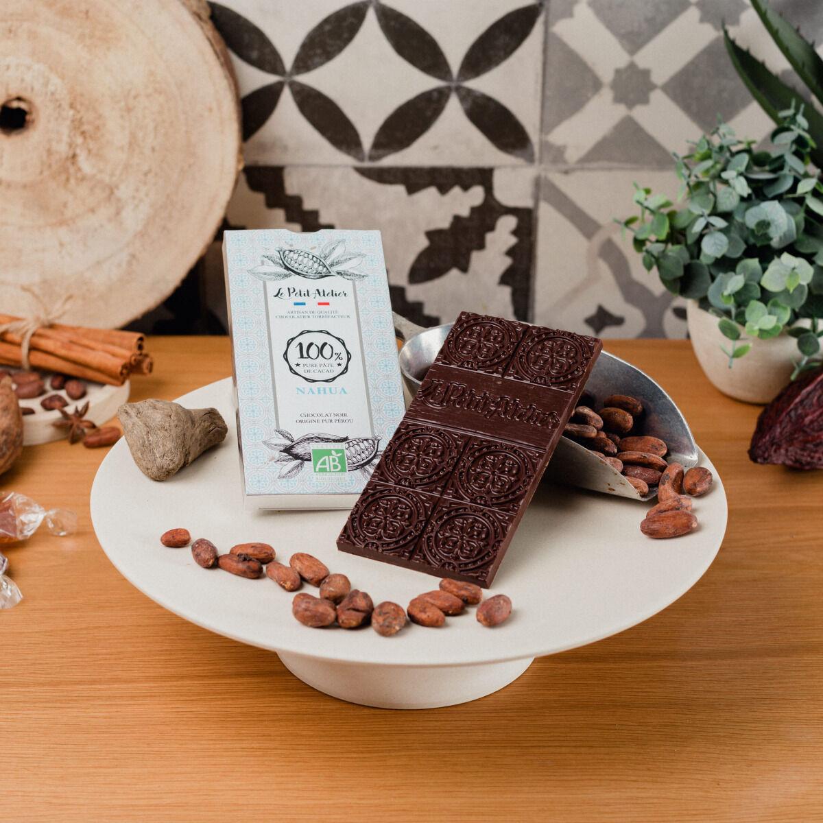Le Petit Atelier Tablette De Chocolat Noir Bio 100% Nahua