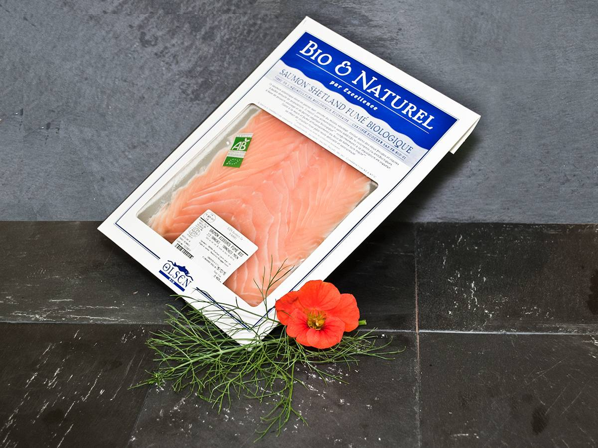Olsen Saumon fumé shetlandais (Ecosse) bio 150g
