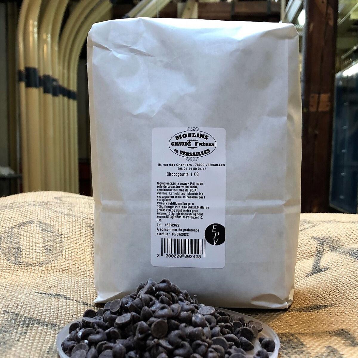 Moulins de Versailles Chocogouttes Chocolat Noir 44% -1kg