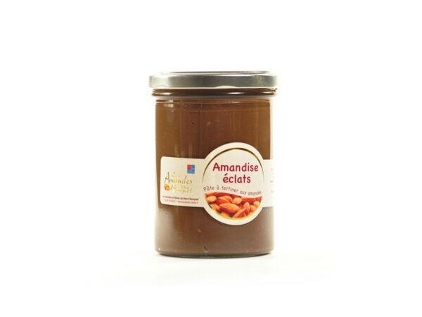 Les amandes et olives du Mont Bouquet Amandise 200gr – Pâte à tartiner au chocolat et éclats d'amandes