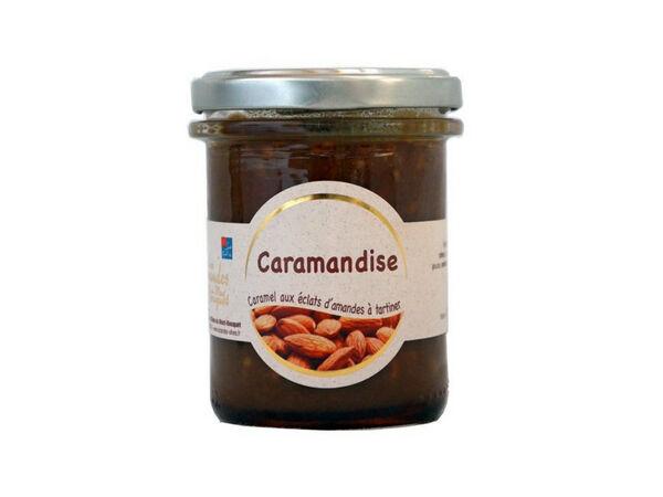 Les amandes et olives du Mont Bouquet Caramandise 200 g - Pâte à tartiner caramel et amandes