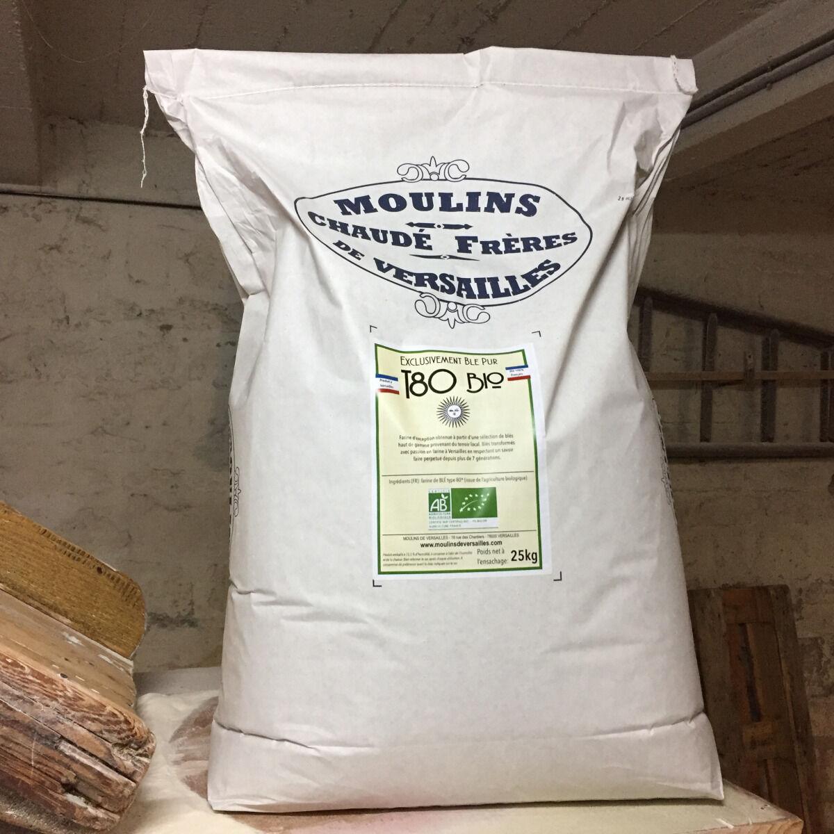 Moulins de Versailles Farine De Blé Bio T80 / Bise - 25kg