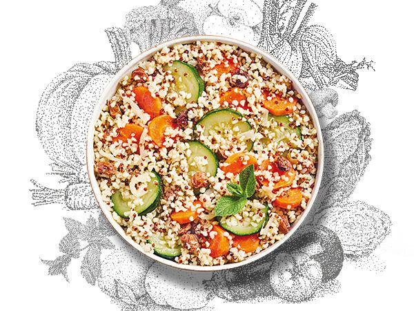 La Brouette Pour 2 Pers. - Légumes Al Dente À La Menthe Fraîche, Boulghour Et Quinoa