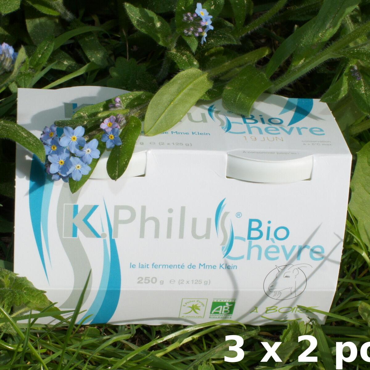 Laiterie du Climont - K-Philus 6 Pots De K-philus Au Lait Entier De Chèvre