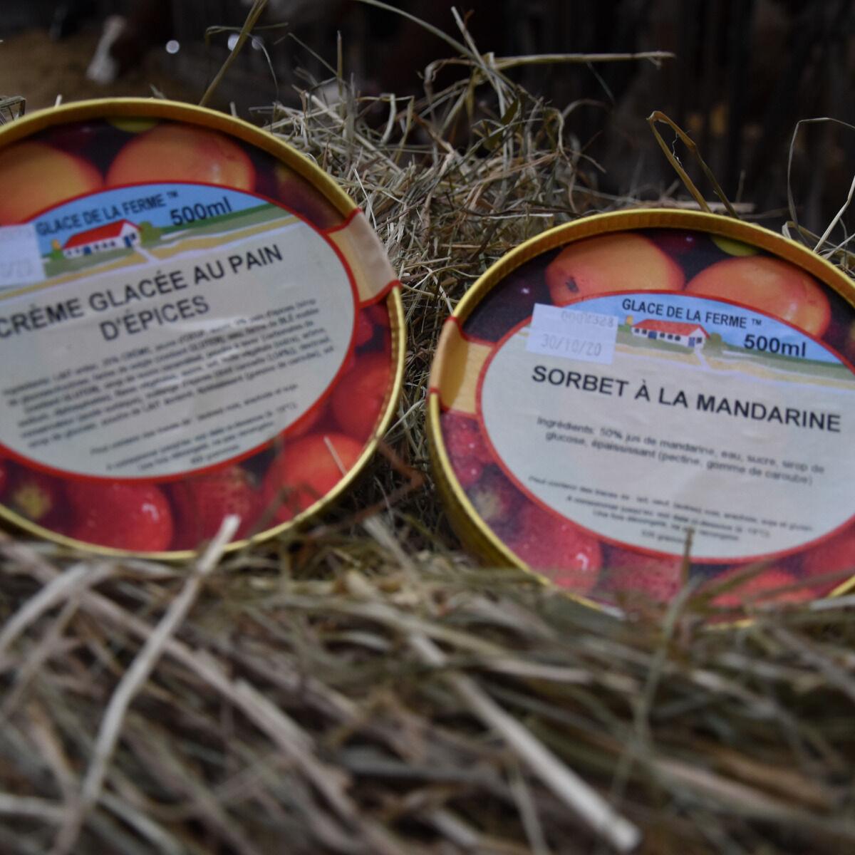 Les Glaces de la Promesse Glace Au Pain D'épices Et Sorbet Mandarine 2x 500 Ml