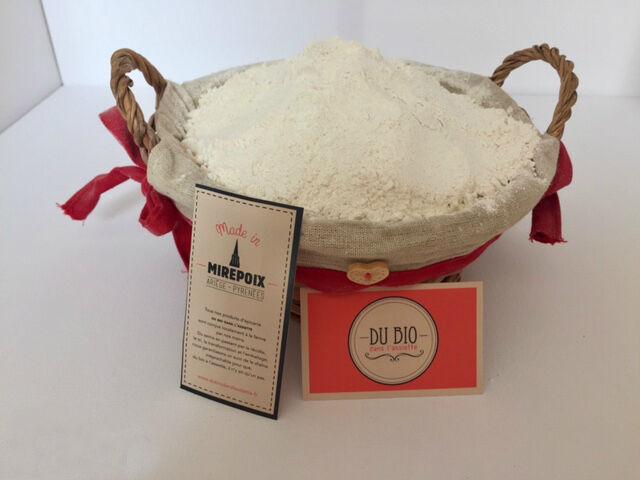 Du bio dans l'assiette Farine Blé T80 Bio 1kg