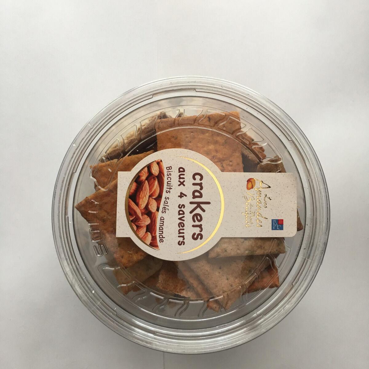Les amandes et olives du Mont Bouquet Crackers à la farine d'amandes (4 parfums) 130 g