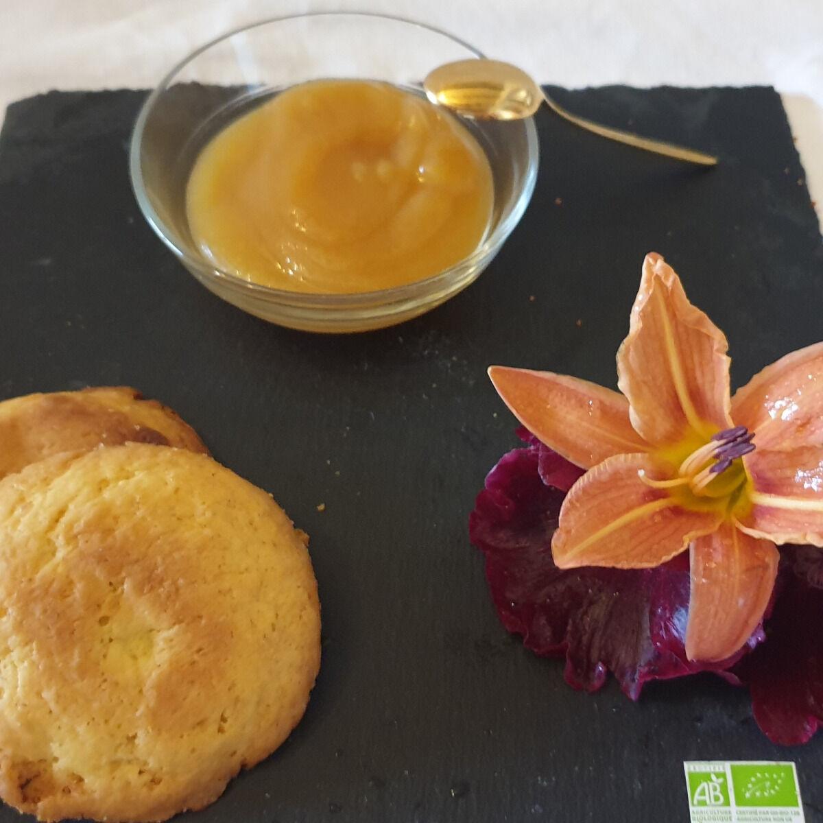 La Ferme du Montet Compote Pomme - nectarine - bio - sans sucre ajouté