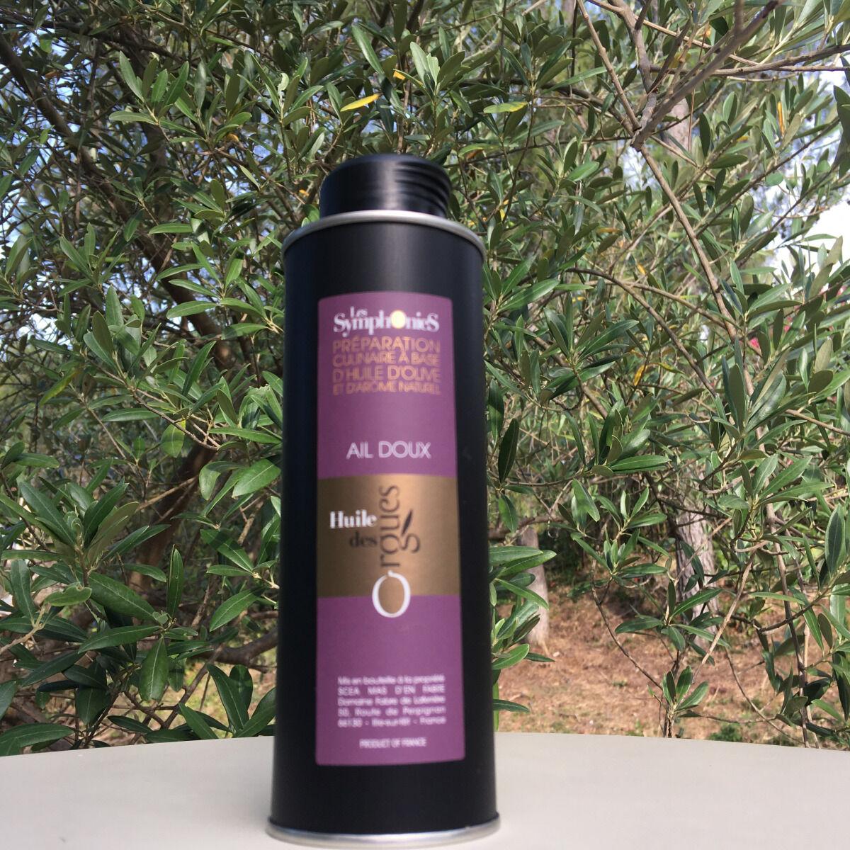 Huile des Orgues Huile d'Olive Vierge Extra aux Notes d'Ail - 250 ml