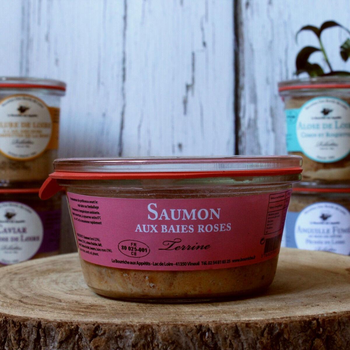 La Bourriche aux Appétits Terrine de Saumon aux Baies Roses
