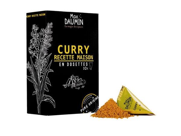 Epices Max Daumin Curry Recette Maison - Boite de dix dosettes
