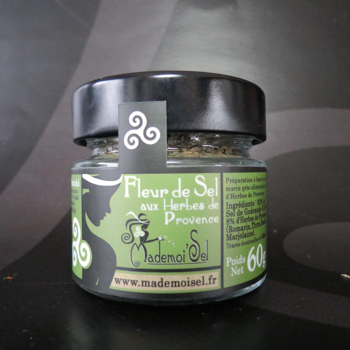Le Panier à Poissons Fleur De Sel Aux Herbes De Provence, 100% Sel De Guérande