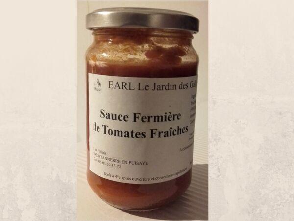 Le Jardin des Gallines Pot De Sauce Fermière De Tomates Fraiches Bio