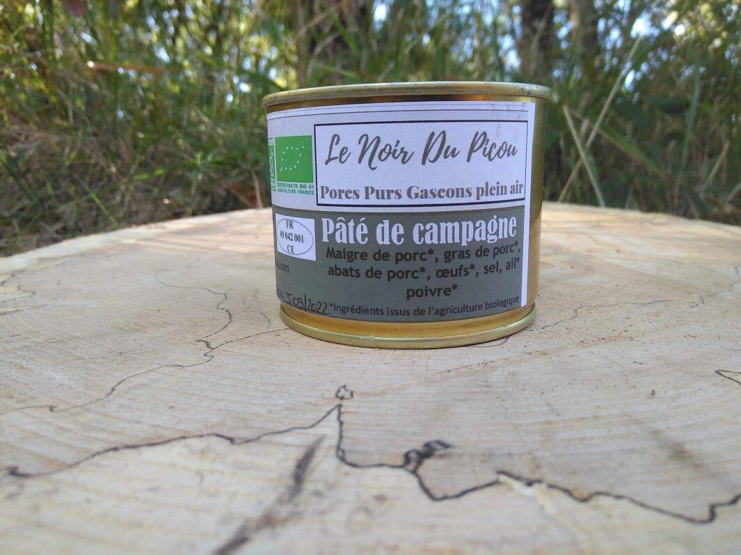 Le Noir du Picou Elodie Ribas Pâté de Campagne de Porc Gascon Bio