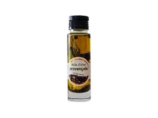 Les amandes et olives du Mont Bouquet Huile d'olive Picholine à la provençale 10 cl