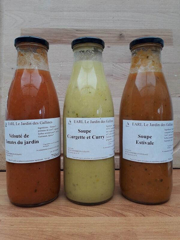 Le Jardin des Gallines Soupes Lot Des 3 Soupes Du Jardin