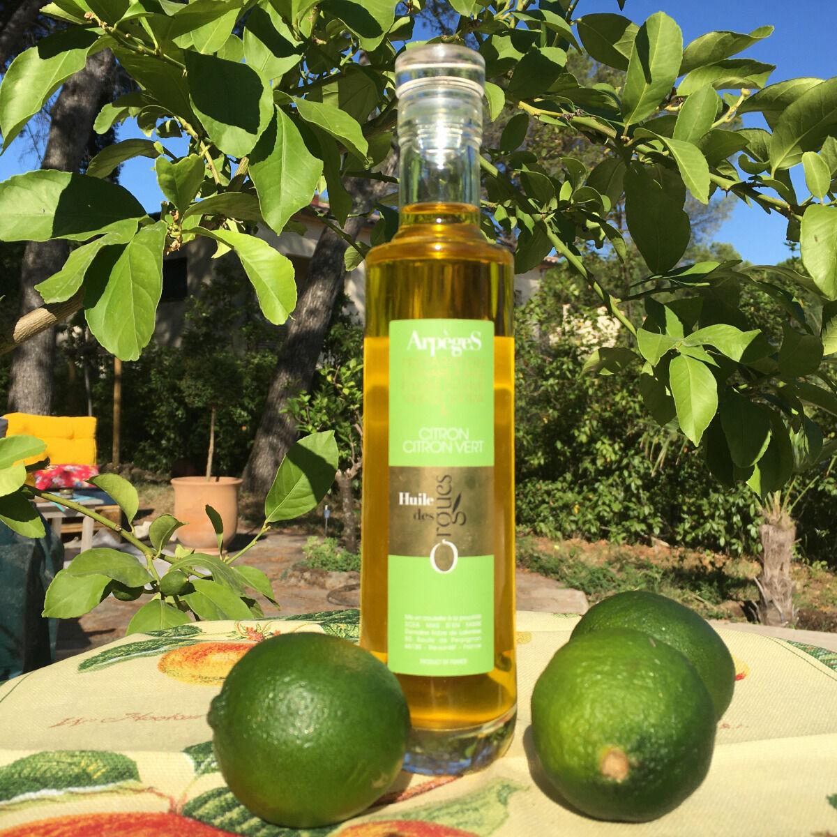 Huile des Orgues Huile d'Olive Parfumée au Citron et Citron Vert - 200 ml