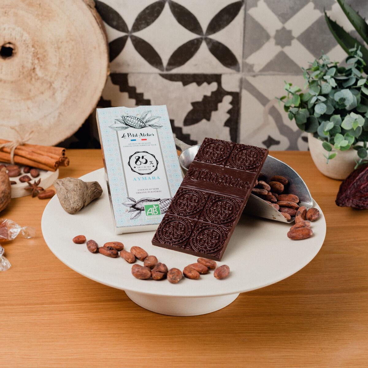 Le Petit Atelier Tablette De Chocolat Noir Bio 85% Aymara
