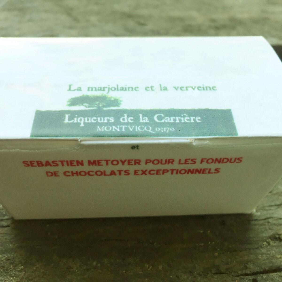 Vinaigres de la Carrière Chocolats à la Verveine et à la Marjolaine - 5 pièces