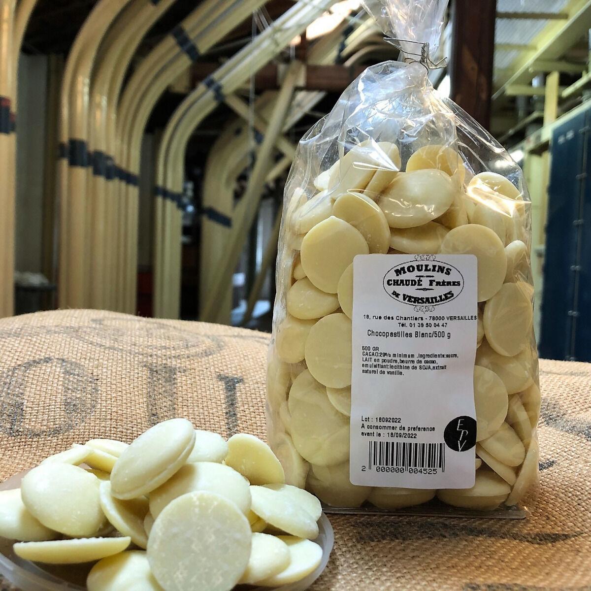 Moulins de Versailles Chocopastilles Chocolat Blanc 29% - 500g