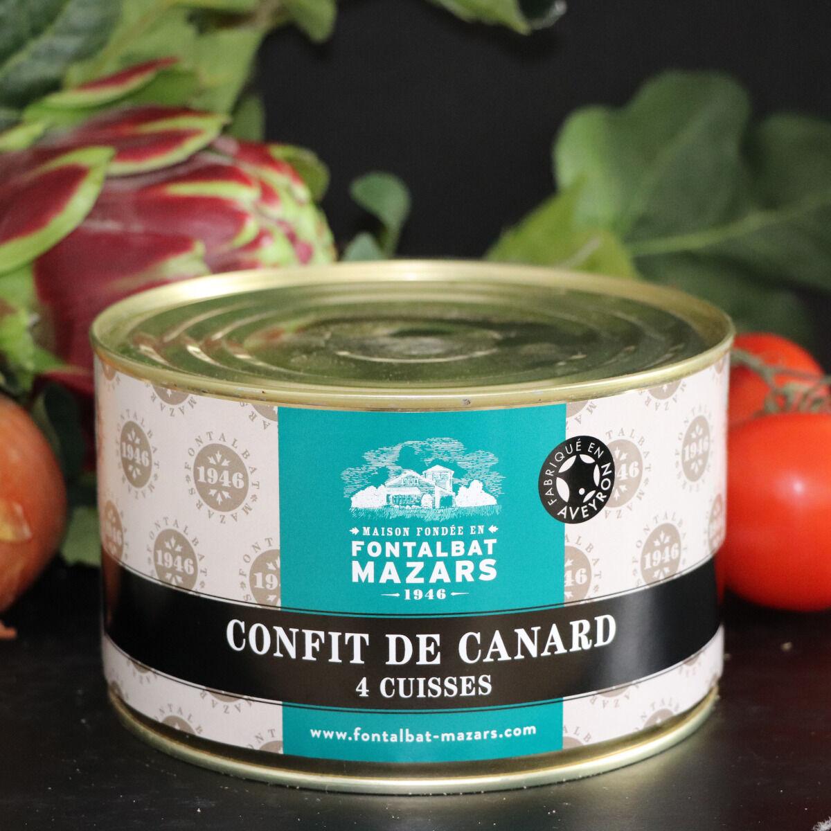 Fontalbat Mazars Confit de canard boite 4 cuisses