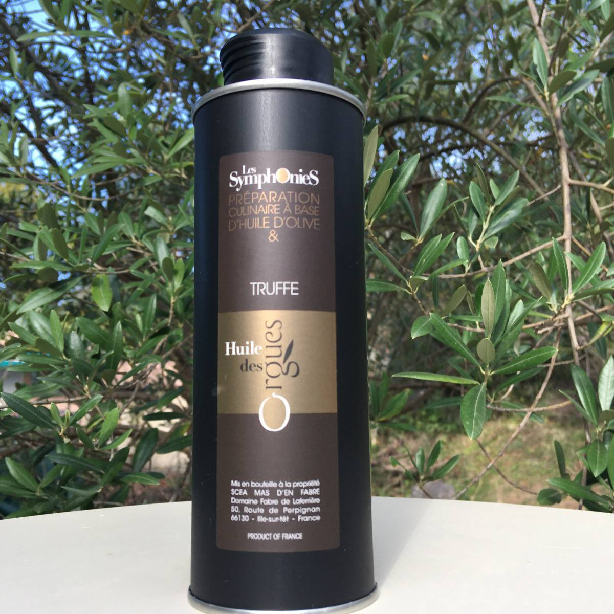 Huile des Orgues Huile d'Olive Vierge Extra aux Notes de Truffe - 250 ml