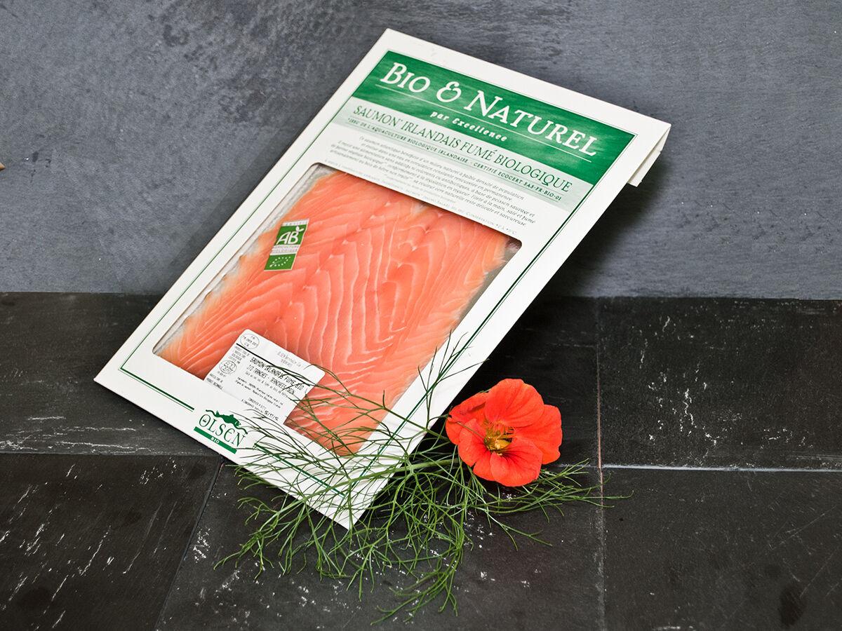 Olsen Saumon fumé bio irlandais 150g tranché main