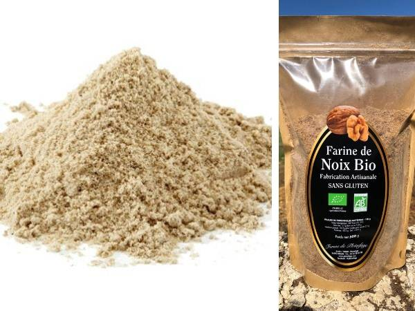 Ferme de Pleinefage Farine de Noix Bio Sans Gluten 500 g