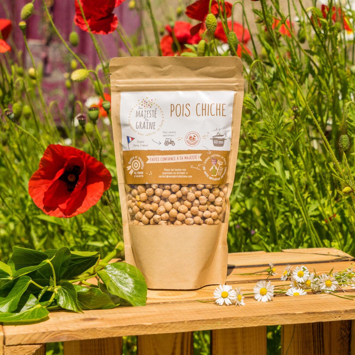 Sa Majesté la Graine Pois Chiches Du Berry - certifiés HVE - sachet 350 g