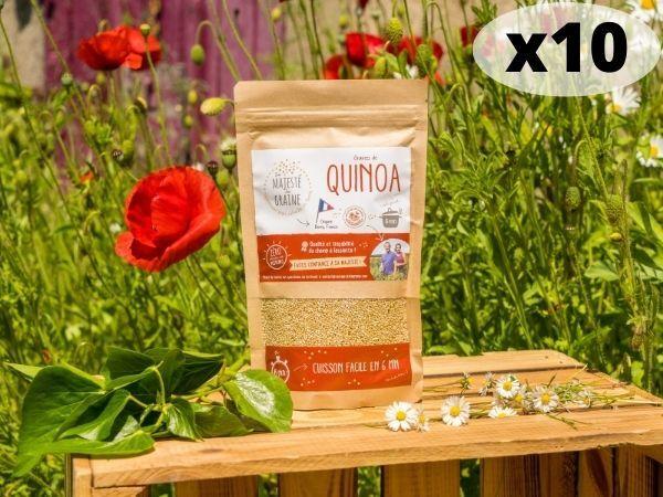 Sa Majesté la Graine Quinoa Blanc Origine France (berry) - 10 X 240 G