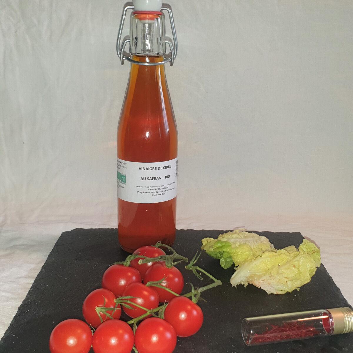 La Ferme du Montet Vinaigre de cidre au safran BIO -25 cl