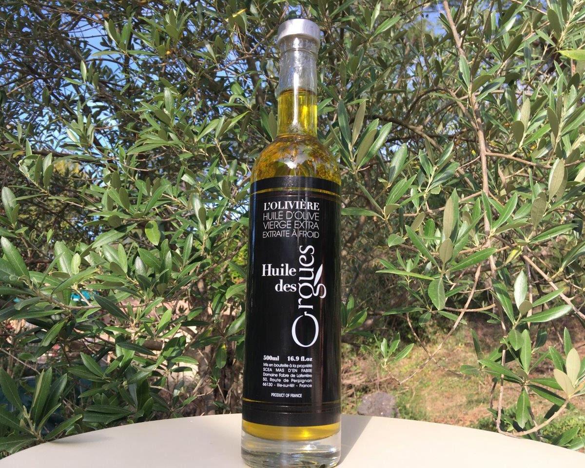 Huile des Orgues Huile d'Olive Vierge Extra  - Variété Spécifique du Roussillon - 500 ml