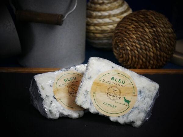Ferme de La Tremblaye Bleu Cendré Au Lait De Chèvre Portion 125g