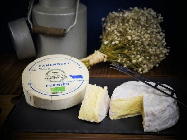 Ferme de La Tremblaye Camembert Fermier Bio Au Lait Cru 275g