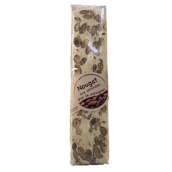 Les amandes et olives du Mont Bouquet Nougat blanc 100 g - miel chataignier