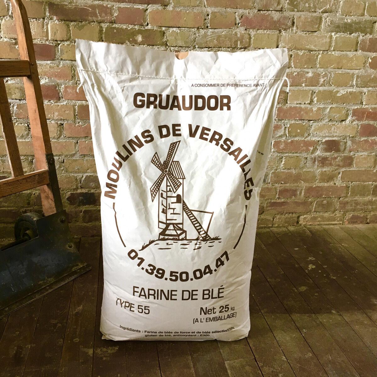 Moulins de Versailles Farine Gruaudor T55 - 25 Kg