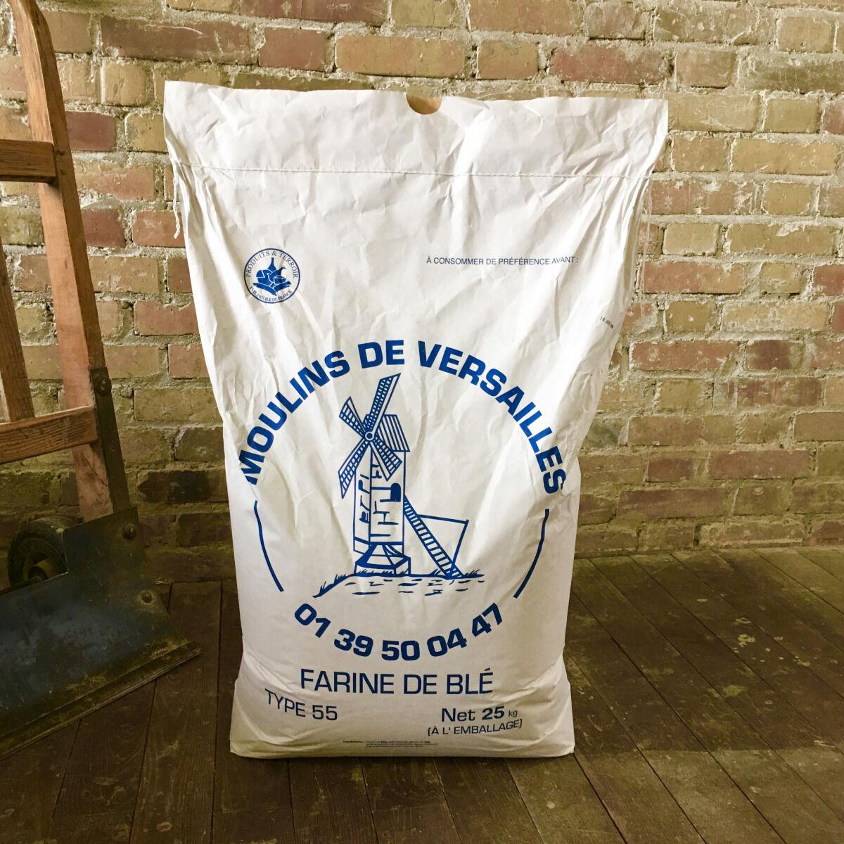 Moulins de Versailles Farine De Blé T55 Boulangère Corde Bleue - 25kg