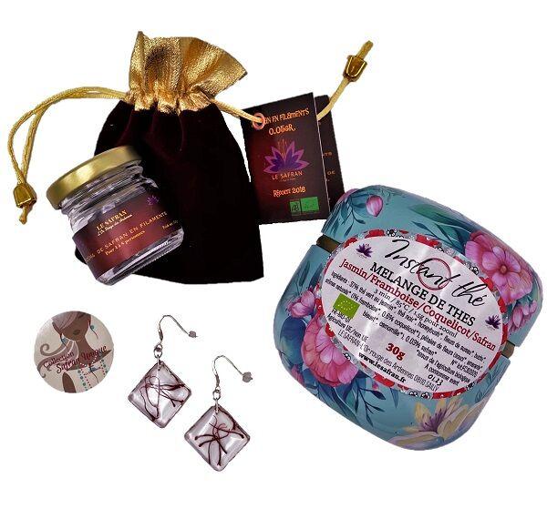 Le safran - l'or rouge des Ardennes Spécial fêtes des mères : un bijou, du thé et l'épice de bonheur...